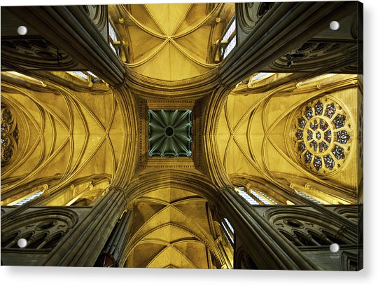 Looking Up At A Cathedral Ceiling Acrylic Print