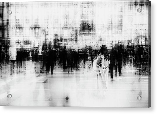 Lost Among Ghosts Acrylic Print by Inna Blar