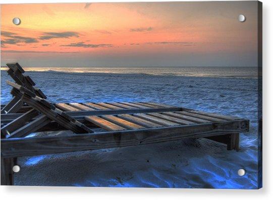 Lounge Closeup On Beach ... Acrylic Print