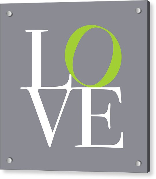 Love In Grey With A Lime Twist Acrylic Print