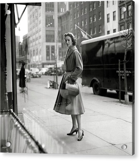 Lucille Carhart Window Shopping On A Street Acrylic Print