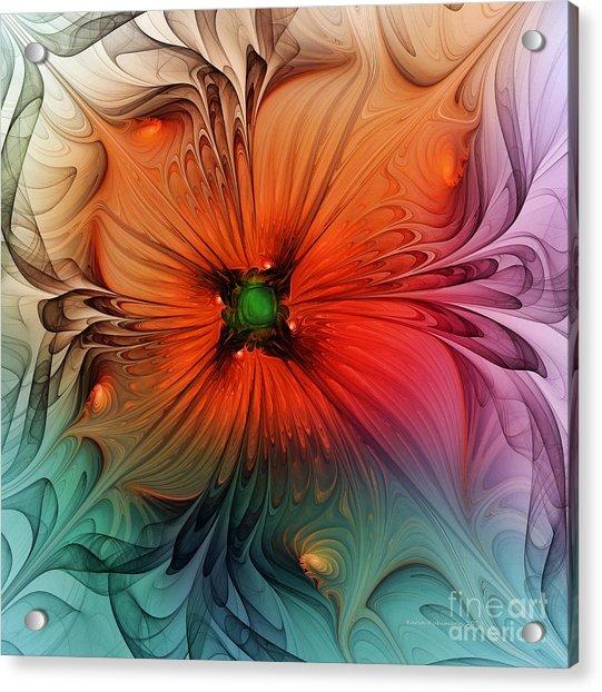 Luxury Blossom Dressed In Velvet And Silk Acrylic Print
