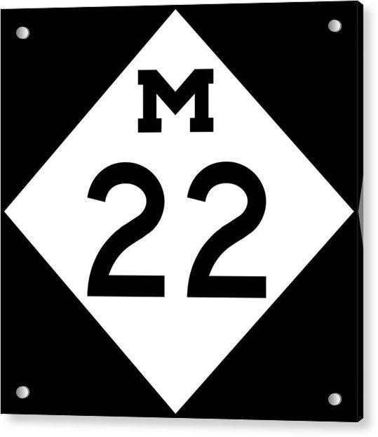 M 22 Acrylic Print