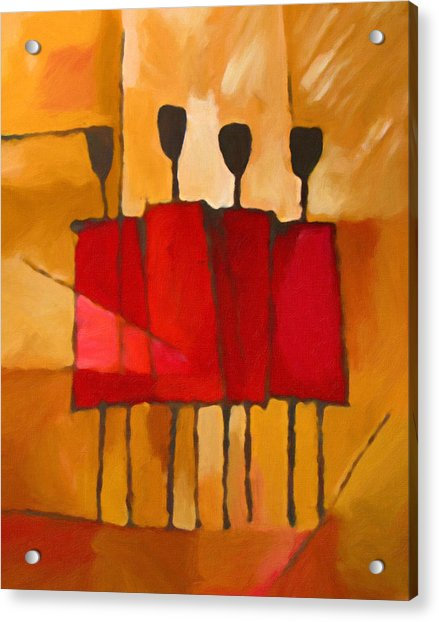 Maasai Group Acrylic Print