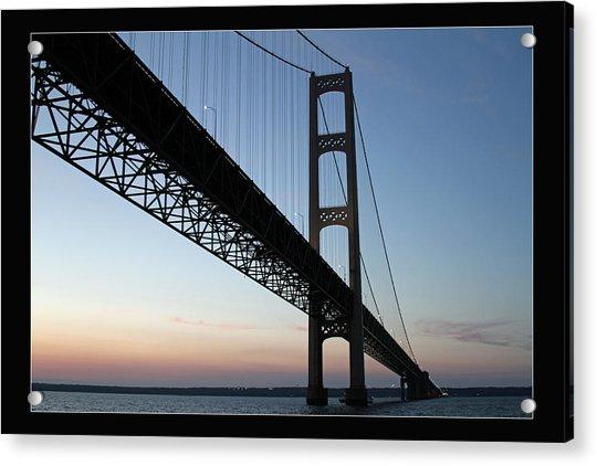 Mackinac Bridge At Sunset Acrylic Print