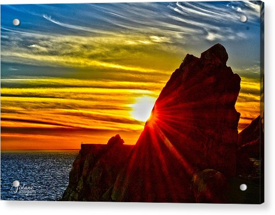 Mugu Rock Sunset Acrylic Print