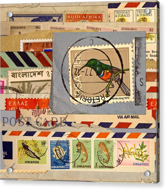 Mail Collage South Africa Acrylic Print