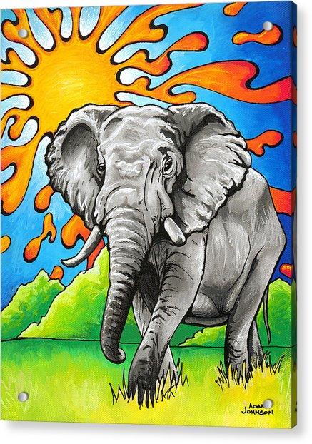 Majestic Elephant Acrylic Print