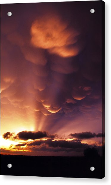 Acrylic Print featuring the photograph Mammatus Sunset Over Colorado by Jason Politte