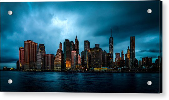 Acrylic Print featuring the photograph Manhattan At Dawn by Chris Lord