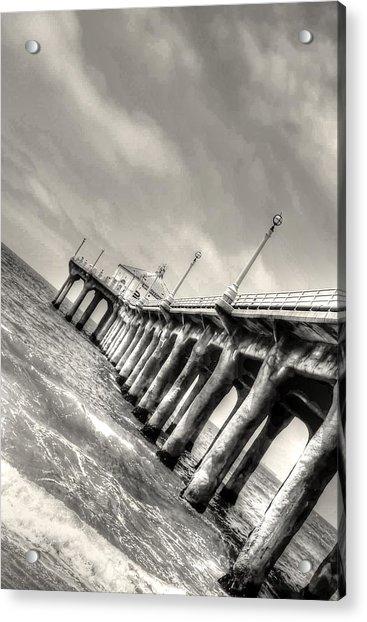 Manhattan Beach Pier - Mike Hope Acrylic Print