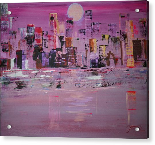 Manhattan Moonshine Acrylic Print