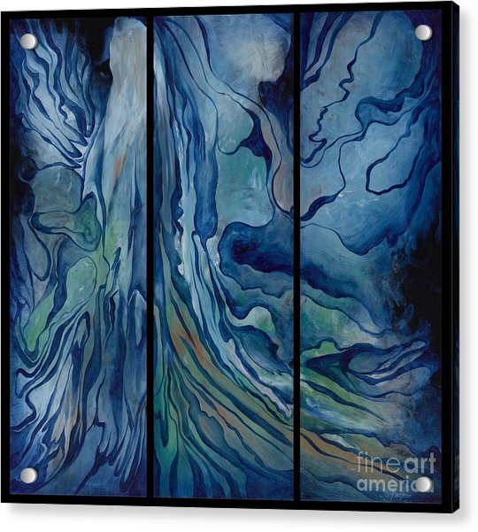 Marina Triptych Acrylic Print