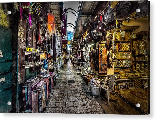 Market In The Old City Of Jerusalem Acrylic Print