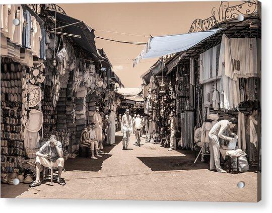 Marrakech Souk Acrylic Print