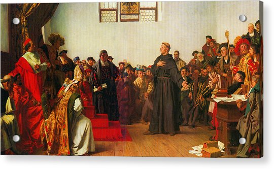 Martin Luther Before The Diet Of Worms Acrylic Print