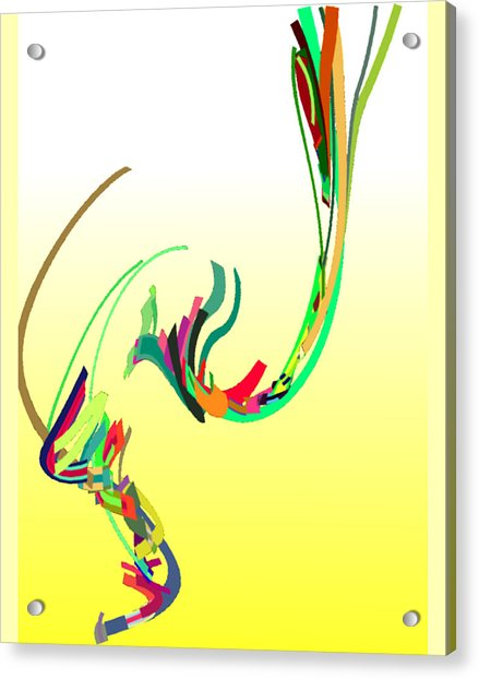 Acrylic Print featuring the digital art Mating Dance by Stephen Coenen