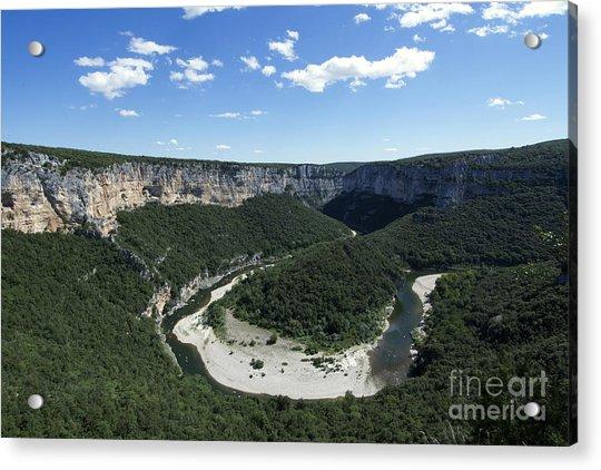 Meander. Gorges De L'ardeche. France Acrylic Print