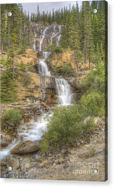 Meandering Waterfall Acrylic Print