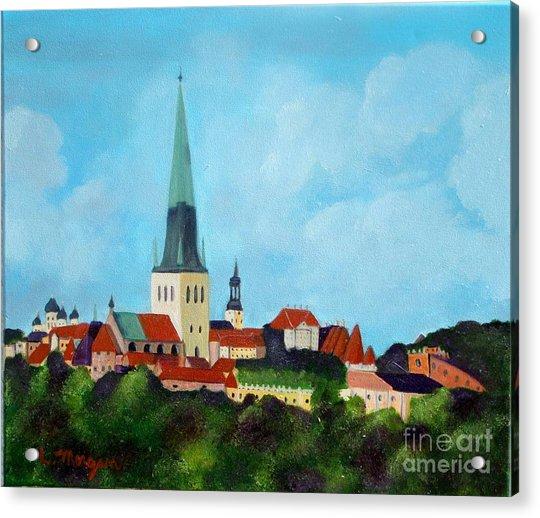 Medieval Tallinn Acrylic Print