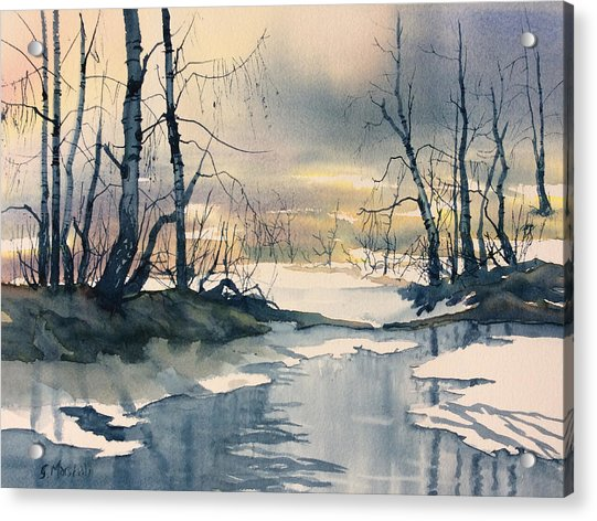 Melt Water On Skipwith Common Acrylic Print