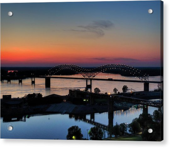 Memphis Sunset On The Mississippi 004 Acrylic Print