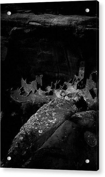 Acrylic Print featuring the photograph Mesa Verde Edged Into The Light by David Bailey