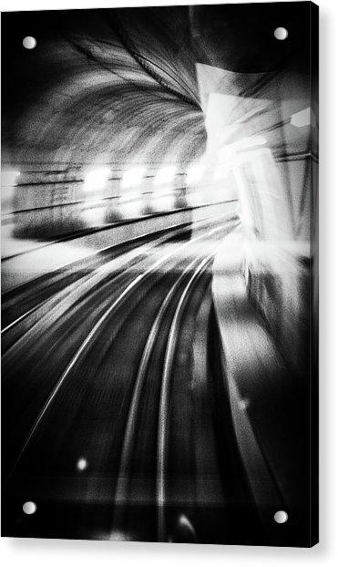 Metro Lights Acrylic Print by Mauro Bricchetti