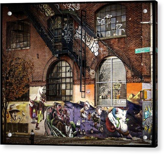 Metropolitan Avenue Graffiti Acrylic Print