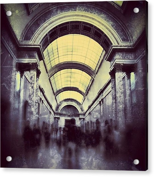 #mgmarts #paris #france #europe #louvre Acrylic Print by Marianna Mills