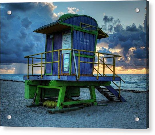 Miami - South Beach Lifeguard Stand 003 Acrylic Print