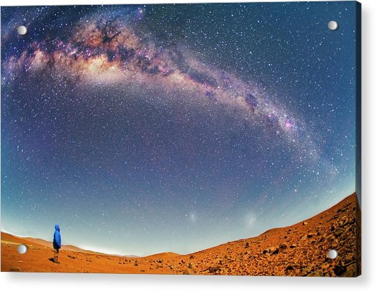 Milky Way Over The Atacama Desert Acrylic Print by Juan Carlos Casado (starryearth.com)