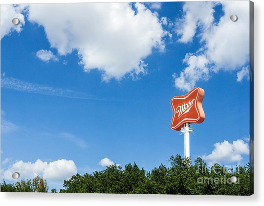 Miller Brewery Sign Acrylic Print