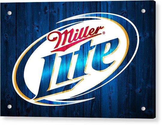 Miller Lite Barn Door Acrylic Print