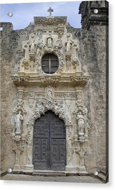 Acrylic Print featuring the photograph Mission San Jose Doorway by Jemmy Archer