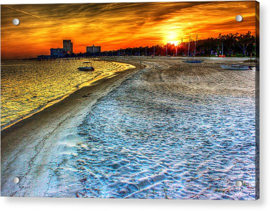 Beach - Coastal - Sunset - Mississippi Gold Acrylic Print