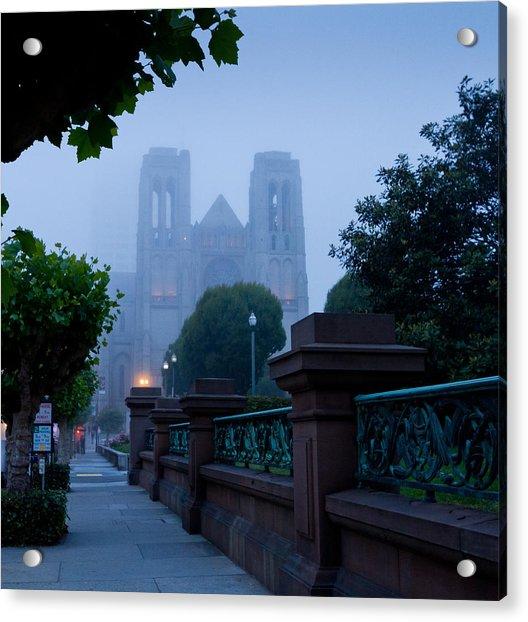 Misty Blues Acrylic Print