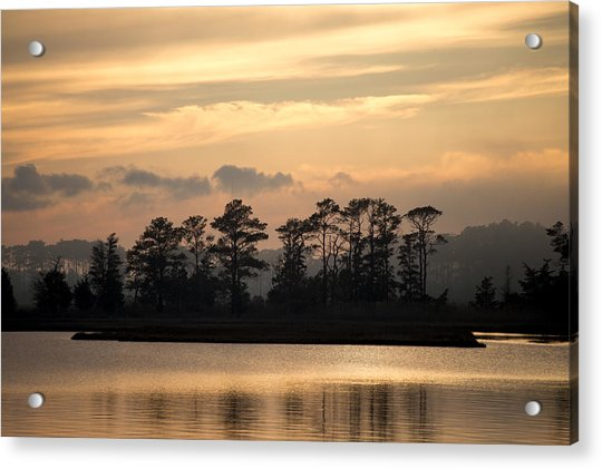 Misty Island Of Assawoman Bay Acrylic Print