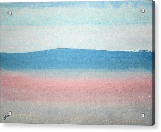 Misty Lake Original Painting Acrylic Print