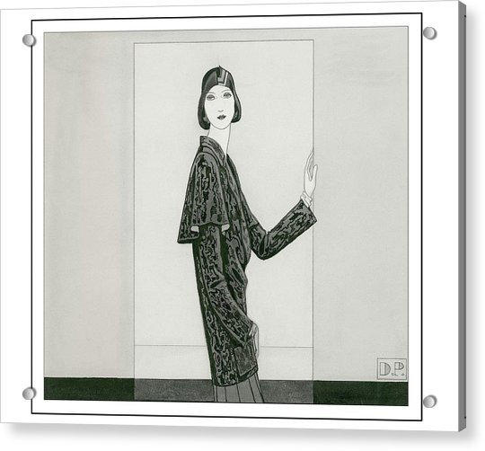 Model Wearing Chanel And Marie-christiane Acrylic Print