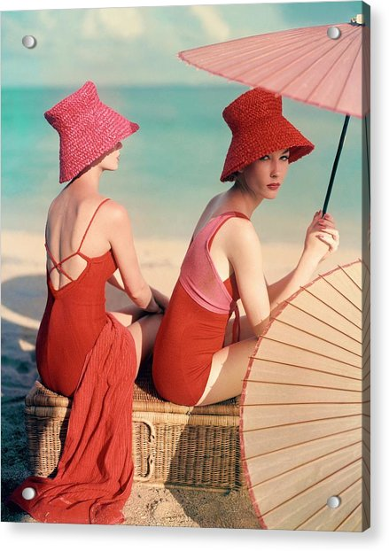 Models At A Beach Acrylic Print