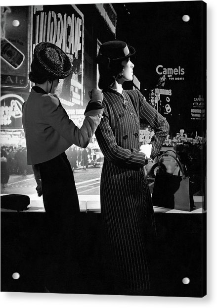 Models In New York City Acrylic Print