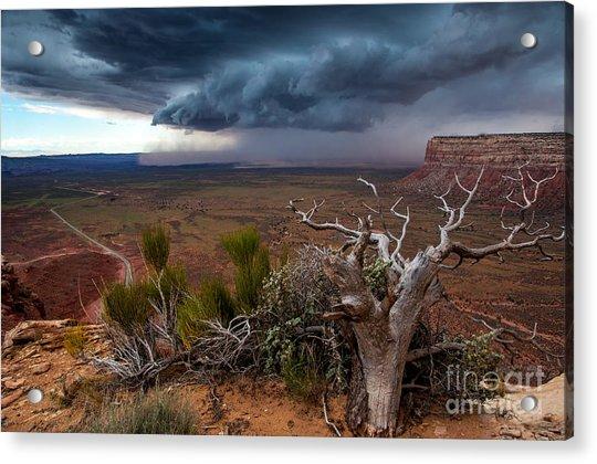 Moki Dugway Thunderstorm - Southern Utah Acrylic Print