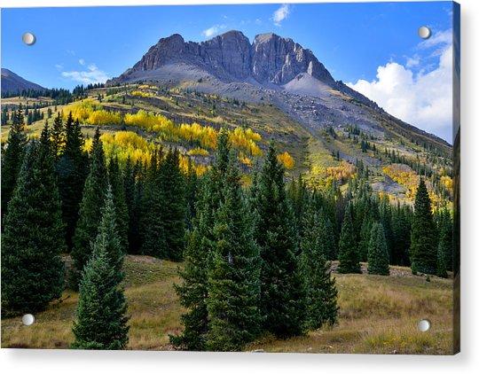 Molas Pass Fall Color Acrylic Print