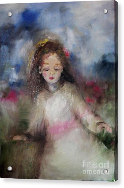 Acrylic Print featuring the painting Mommy's Little Girl by Laurie Lundquist