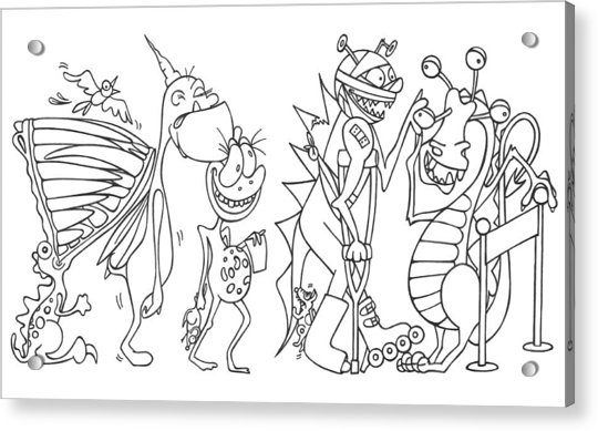 Monster  Queue Acrylic Print