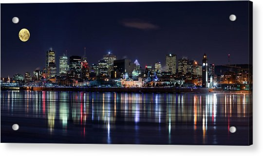 Montreal Night Acrylic Print by