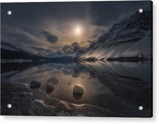 Moody Lake Acrylic Print