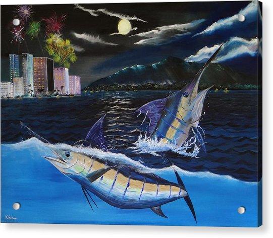 Moonlit Blue Acrylic Print