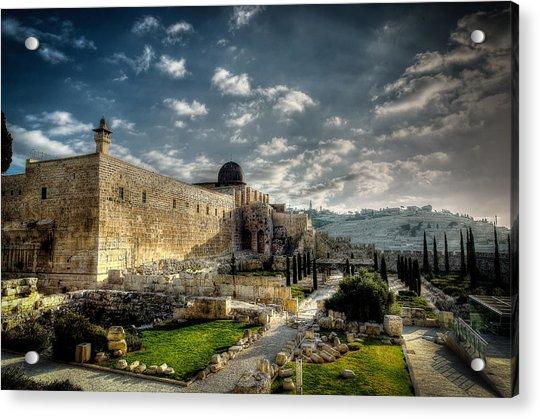 Morning In Jerusalem Hdr Acrylic Print